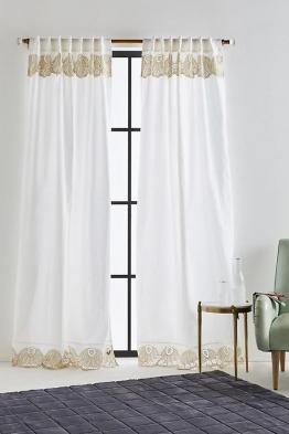 Lola Bestickter Vorhang - Gold