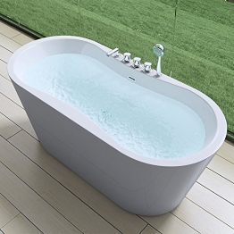 MAI&MAI - Elegante Badewanne Vicenza602S, freistehend und weiß - 1