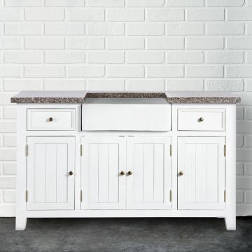 maple hill sp ltisch mit granitarbeitsplatte und keramikbecken shop ambiente mediterran. Black Bedroom Furniture Sets. Home Design Ideas