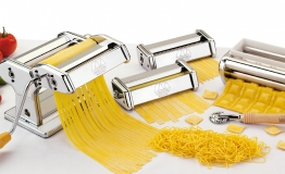 Marcato Nudelmaschine Multipast mit 6 Aluminium Walzen Pasta & Pizza 0801531200 sonstige Kochutensilien - 801531200