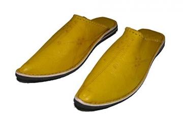 Marrakech Accessoires Orientalische Leder Schuhe Pantoffeln Hausschuh Slipper - Herren, Schuhgrösse:46 - 2