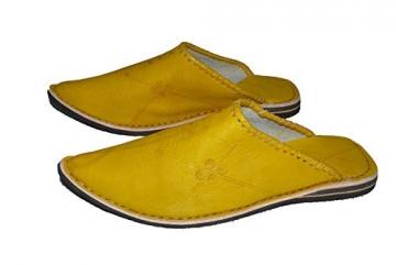 Marrakech Accessoires Orientalische Leder Schuhe Pantoffeln Hausschuh Slipper - Herren, Schuhgrösse:46 - 3