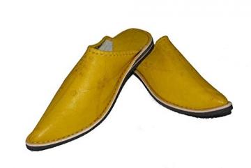 Marrakech Accessoires Orientalische Leder Schuhe Pantoffeln Hausschuh Slipper - Herren, Schuhgrösse:46 - 4