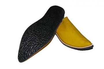 Marrakech Accessoires Orientalische Leder Schuhe Pantoffeln Hausschuh Slipper - Herren, Schuhgrösse:46 - 5