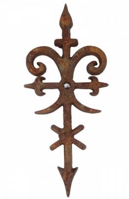 Maueranker Pfettenanker Gusseisen Edelrost Dekoration Antik-Stil 57cm