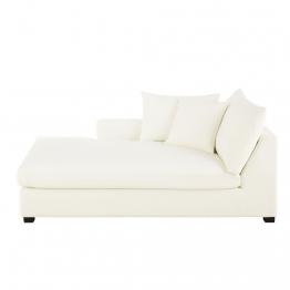 Meridienne mit linker Armlehne für Sofa mit Baumwollbezug, elfenbeinfarben Rhodes