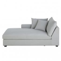 Meridienne mit linker Armlehne für Sofa mit Baumwollbezug, hellgrau Rhodes