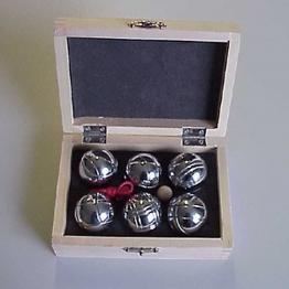 Mini Boule-Spiel / Boccia für unterwegs in Holzbox