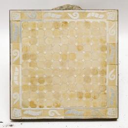 Mosaikbeistelltisch, beige, L 50 cm, B 50 cm, H 45 cm
