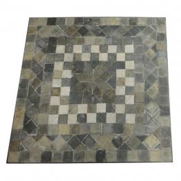 Mosaiktisch aus Naturstein, grau/braun, L 61 cm, B 61 cm, H 71 cm