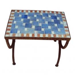 Mosaiktisch ´´Echec´´, blau, L 30 cm, B 50 cm, H 44 cm