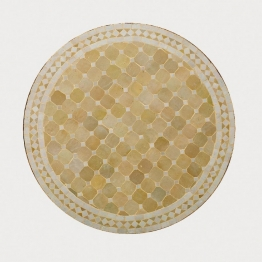 Mosaiktisch rund, beige, H 75 cm, Ø 120 cm