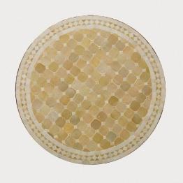 Mosaiktisch rund, beige, H 75 cm, Ø 70 cm
