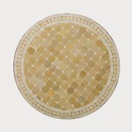 Mosaiktisch rund, beige, H 75 cm, Ø 80 cm