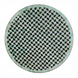 Mosaiktisch rund, türkis/braun, Ø 60 cm