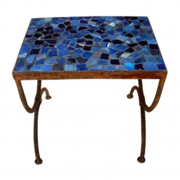 Mosaiktisch ´´Tesson bleu´´, blau, L 30 cm, B 40 cm, H 37 cm