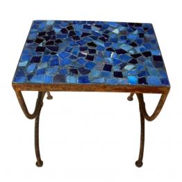 Mosaiktisch ´´Tesson bleu´´, blau, L 30 cm, B 44 cm, H 42 cm