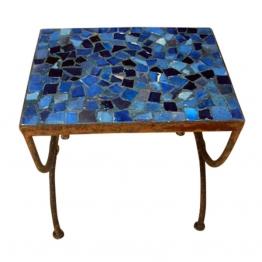 Mosaiktisch ´´Tesson bleu´´, blau, L 30 cm, B 50 cm, H 44 cm