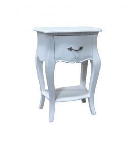 Nachttisch LOUIS white, 45 × 30 × 65 cm