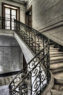 Olivier Lacour: Bild ´Treppe aus der Nähe´, Bild