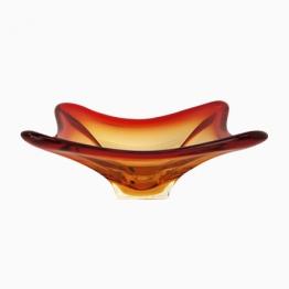 Orange Italienische Mid-Century Murano Glas Schale, 1950er