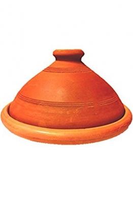 Original Tajine aus Marokko, unglasiert 30 cm f. 3-4 Personen - 1