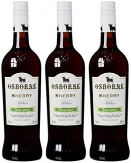 Osborne Sherry Golden,Medium 15 % vol, 3er Pack (3 x 750 ml) - 1