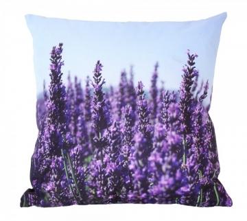Outdoor Kissen Lavendel Gartenkissen Provence Wasserabweisend 40x40cm