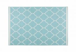 Outdoor-Teppich aus türkisfarbenem Stoff 120x180cm HAMPTON