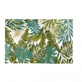 Outdoor-Teppich bedruckt mit tropischem Motiv 160x230