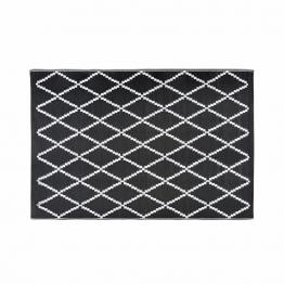 Outdoor-Teppich mit schwarzen und weißen Motiven 180x270cm LOSIA