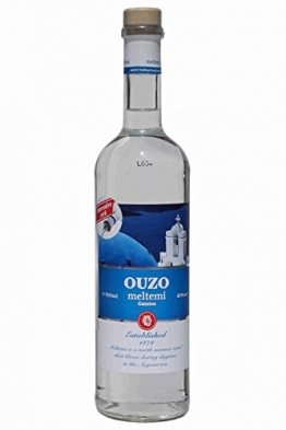 Ouzo Meltemi 700ml 40% Gatsios griechischer Uso Ouxo Tresterbrand Trester Schnaps - 1