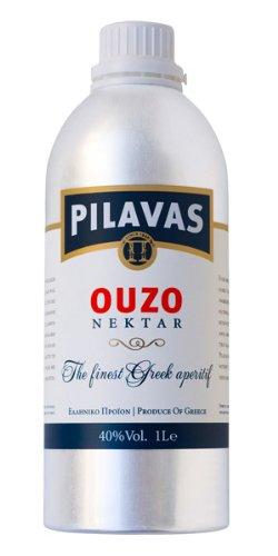 Ouzo Nektar Pilavas 40%-Vol. in einer neuen 1-L-Aluminium-Flasche - 1