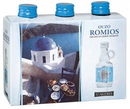 Ouzo Romios 38% 0,04l 3er-Set - 1
