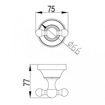 PaulGurkes Bad-Accessoires Set Nostalgie Retro Haken WC-Bürste WC-Papierhalter - 3