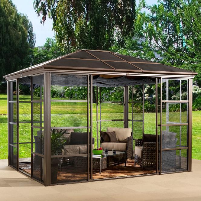 pavillon castel 10x12 shop ambiente mediterran. Black Bedroom Furniture Sets. Home Design Ideas