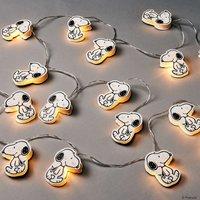 PEANUTS LED Papierlichterkette Snoopy 20 Lichter