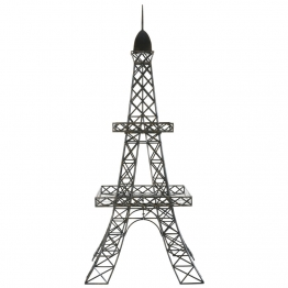 Pflanzenständer Eiffelturm aus schwarzem Metall