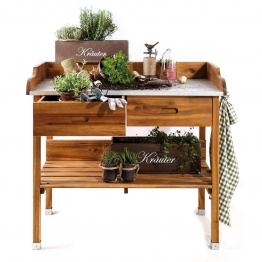 Pflanztisch Akazie - für Garten, Terrasse & Balkon