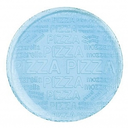 Pizza-Teller aus Glas 33 cm, Blau
