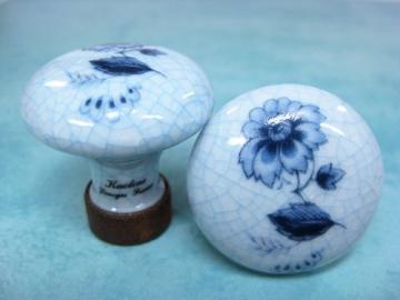 Porzellanknopf aus Frankreich rund skandinavisch craquelé 35 mm - Stilmelange Qualität aus Europa seit 1998