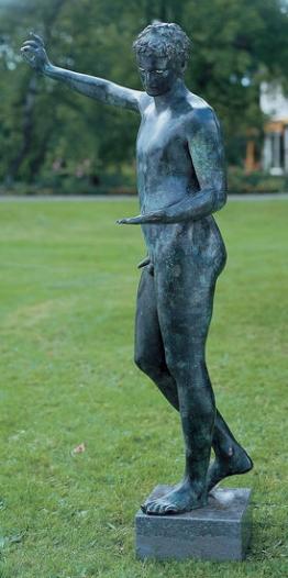Praxiteles: Statue ´Der Jüngling von Marathon´, Bronze, Skulptur, Götterbildnis