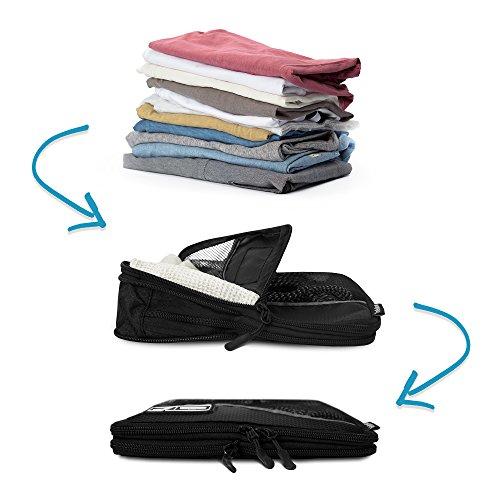 Premium Kompressions-Kleidertaschen I Ultraleichtes 6-teiliges Koffer-Organizer-Set I Platzsparende Packtaschen mit Kompression-Effekt I Reise-Pack-Würfel-Set - 3