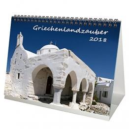 Premium Tischkalender / Kalender 2018 · DIN A5 · Griechenlandzauber · Griechenland · Urlaub · Meer · Edition Seelenzauber - 1