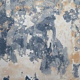 Vlies-Wandbild 270 x 270 cm Deco Fototapete ramponierte Wand mit Putz Shabby Chic Digitaldruck - 1