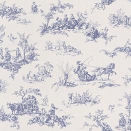 Rasch Lazy Sunday blau Toile de Jouy Paste the Wall Tapete - 1