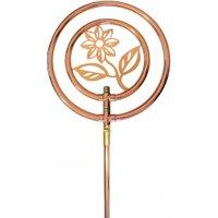 Rasensprenger Blume Rotierend Kupfer mit Erdspieß Kreisregner Wasserspiel