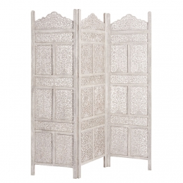 Raumteiler MILLE ET UNE NUIT aus Holz, B 150 cm, grau