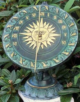Renaissance-Sonnenuhr auf Standarte, Bronze