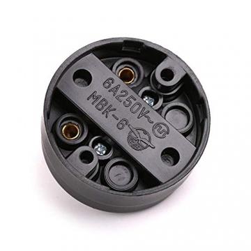 Retro Einzelschalter Metall und Kunststoff Rund Lichtschalter Aufputz Wandleuchte Knopf altmodisch - 5